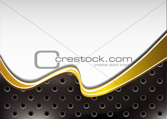 background with golden wave