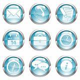 Set Business Gloss Button