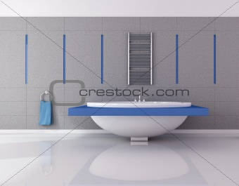 blue and gray essential bathroom