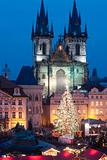 czech republic, prague - christmas market at the old town square