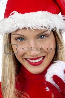 Beautiful Santa Claus girl