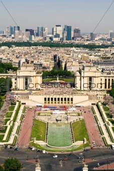 Paris. View on the Palais de Chaillot
