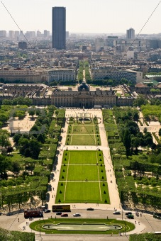 Aerial view on the Champs de Mars