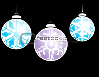 Three Snowflake Ornaments