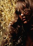 Woman Surrounded by Wheat