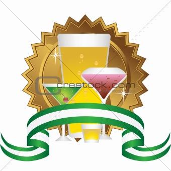 Alcoholic Beverages: Sticker Set