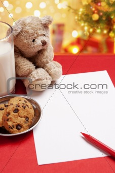 Blank children Christmas wish letter