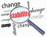Searching for Stability Amidst Change - Magnifying Glass