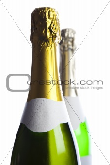 Champagne, alcohol, bottle