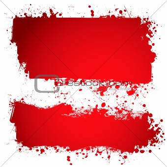 blood red ink banner