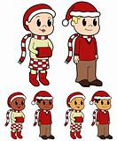 Christmas Kids - vector illustrations