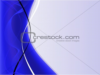 A blue and white abstract vector background