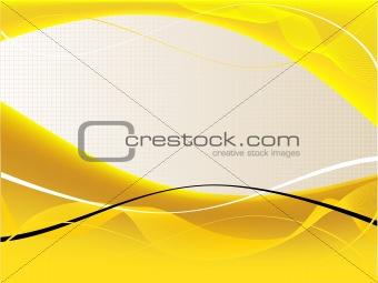 A yellow and white abstract vector background