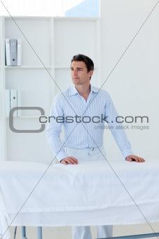 Portrait of an attractive patient