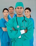 Portrait of a surgeon team in hospital