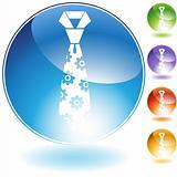 Flower Necktie Crystal Icon