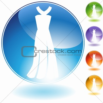 Formal Dress Crystal Icon