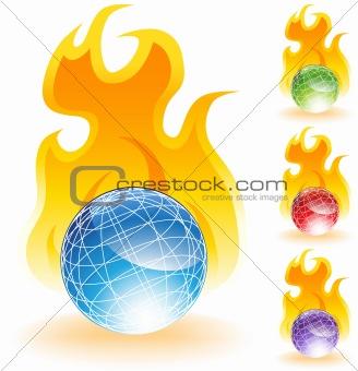 3D Globes - Fire