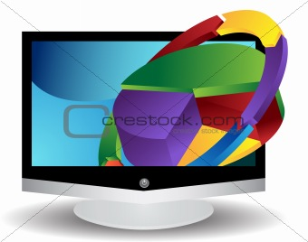 3D Video Graphics Flat Screen