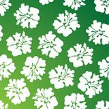 Hibiscus Pattern - Green