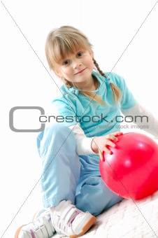 active kid with a ball
