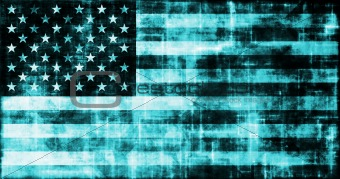 Grunge Digital USA Flag