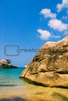 Beach hidden behind the rock