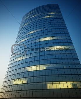 Skyscraper with lights
