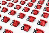 red vintage phones
