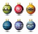 Xmas colorful balls