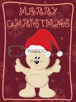 cartoon santa on abstract background