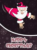 halftone background with cartoon santa claus