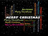 stylish background with colorful merry christmas