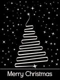 black twinkle star background with xmas tree