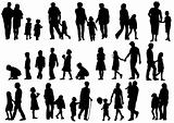 Silhouettes parents