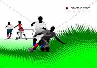 Abstract background with Soccer players. Vector illustration