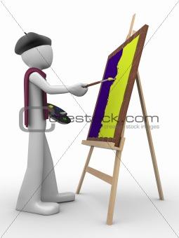 Painter at work (men at work series)