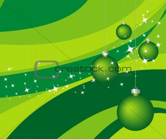 Green vector Christmas background