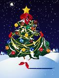 Vector christmas pine