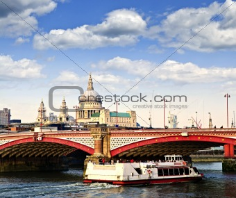 Blackfriars Bridge and St. Paul's Cathedral, London