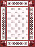 Vector Valentine Frame or Tag With Gingham Trim