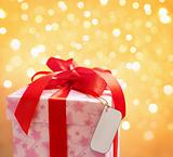 Red Christmas Present with blank tag
