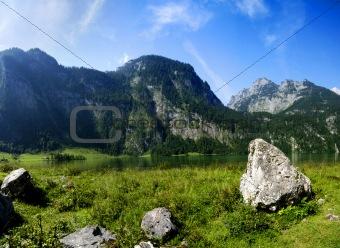 Alps and lake