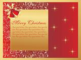 creative artwork background with xmas banner
