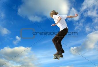 Skater high jump