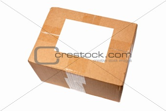 Box with blank label