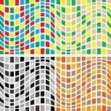abstract tile wave multi