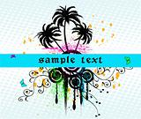 Abstract background with frame - vector