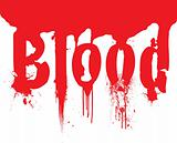 header blood dribble text