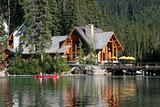 Lodge on a lake
